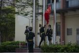 """中西医临床学院举行""""我为祖国升国旗""""活动"""